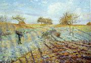 Camille Pissaro Hoarfrost oil painting artist