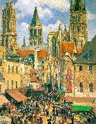 The Old Market Town at Rouen