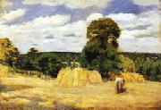 Camille Pissarro The Harvest at Montfoucault oil painting