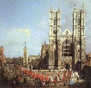 London: Westminster Abbey, with a Procession of Knights of the Bath  f