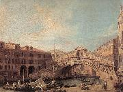 Canaletto Grand Canal: The Rialto Bridge from the South f oil painting picture wholesale