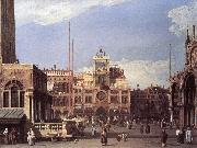 Canaletto Piazza San Marco: the Clocktower f oil painting picture wholesale