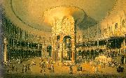 Canaletto Ranelagh, the Interior of the Rotunda oil painting