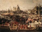 Arrival of the French Ambassador in Venice (detail) f