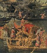 Arrival of the French Ambassador in Venice (detail) d
