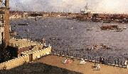 London: The Thames and the City of London from Richmond House (detail) d