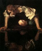 Caravaggio Narcissus oil painting