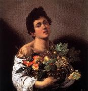 Boy with a Basket of Fruit f