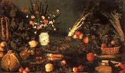 Caravaggio Still Life with Flowers Fruit oil painting