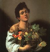 Caravaggio Youth with a Flower Basket oil painting