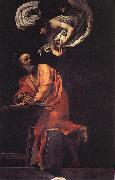 Caravaggio The Inspiration of Saint Matthew df oil painting picture wholesale