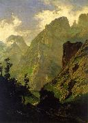 Carlos de Haes The Peaks of Europe,  The Mancorbo Canal oil painting artist