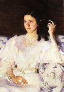 Cecilia Beaux Sita and Sarita(Girl with a Cat) oil painting
