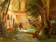 Charles Blechen Monastery in the Wood oil painting picture wholesale