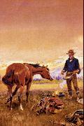 Charles M Russell Partners oil painting reproduction