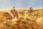 Charles M Russell When Cows Were Wild oil painting picture wholesale