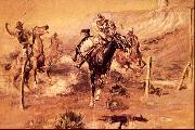 Charles M Russell The Getaway oil painting picture wholesale