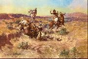 Charles M Russell The Broken Rope oil painting picture wholesale