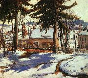 Charles Reiffel February Thaw, Silvermine Connecticut oil painting