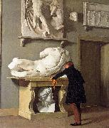 Christen Kobke The View of the Plaster Cast Collection at Charlottenborg Palace oil painting