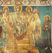 Madonna Enthroned with the Child, St Francis and four Angels dfg