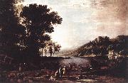 Claude Lorrain Landscape with Merchants sdfg oil painting picture wholesale