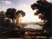 Claude Lorrain Landscape with Dancing Figures (The Mill) vg oil painting picture wholesale
