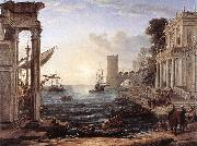 Claude Lorrain Seaport with the Embarkation of the Queen of Sheba df oil painting picture wholesale