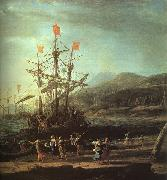 Claude Lorrain The Trojan Women Setting Fire to their Fleet oil painting artist