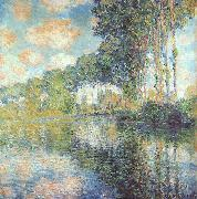 Claude Monet Poplars on Bank of River Epte oil painting picture wholesale