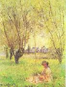 Claude Monet Woman Seated Under the Willows oil painting picture wholesale