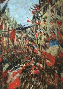 Claude Monet Rue Saint Denis, 30th June 1878 oil painting