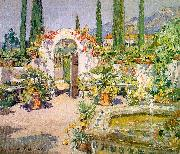 Colin Campbell Cooper A Santa Barbara Courtyard oil painting