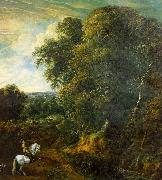 Corneille Huysmans Landscape with a Horseman in a Clearing oil painting