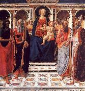 Cosimo Rosselli The Virgin and Child Enthroned with Saints oil painting