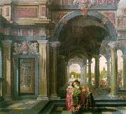 Palace Courtyard with Figures df