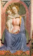 DOMENICO VENEZIANO The Madonna and Child with Saints (detail) dh oil painting