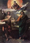 DOSSI, Dosso The Virgin Appearing to Sts John the Baptist and John the Evangelist dfg oil painting
