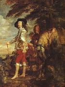 DYCK, Sir Anthony Van Charles I: King of England at the Hunt drh oil painting