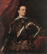 DYCK, Sir Anthony Van Portrait of a Young General dfgj oil painting