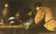 Diego Velazquez Two Men at a Table oil painting picture wholesale