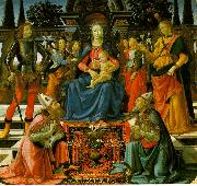 Madonna Enthroned with the Saints  q