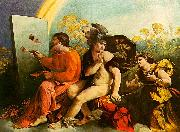 Dosso Dossi Jupiter, Mercury and Virtue oil painting artist
