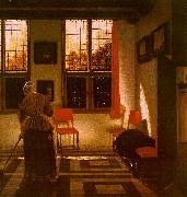 ELINGA, Pieter Janssens Room in a Dutch House g oil painting