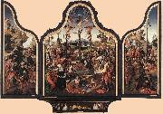ENGELBRECHTSZ., Cornelis Crucifixion Altarpiece f oil painting picture wholesale