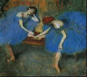 Edgar Degas Two Dancers in Blue oil painting picture wholesale