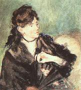 Edouard Manet Portrait of Berthe Morisot oil painting picture wholesale