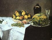 Edouard Manet Still Life with Melon and Peaches oil painting picture wholesale