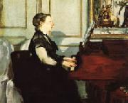 Mme.Manet at the Piano