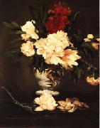 Vase of Peonies on a Pedestal